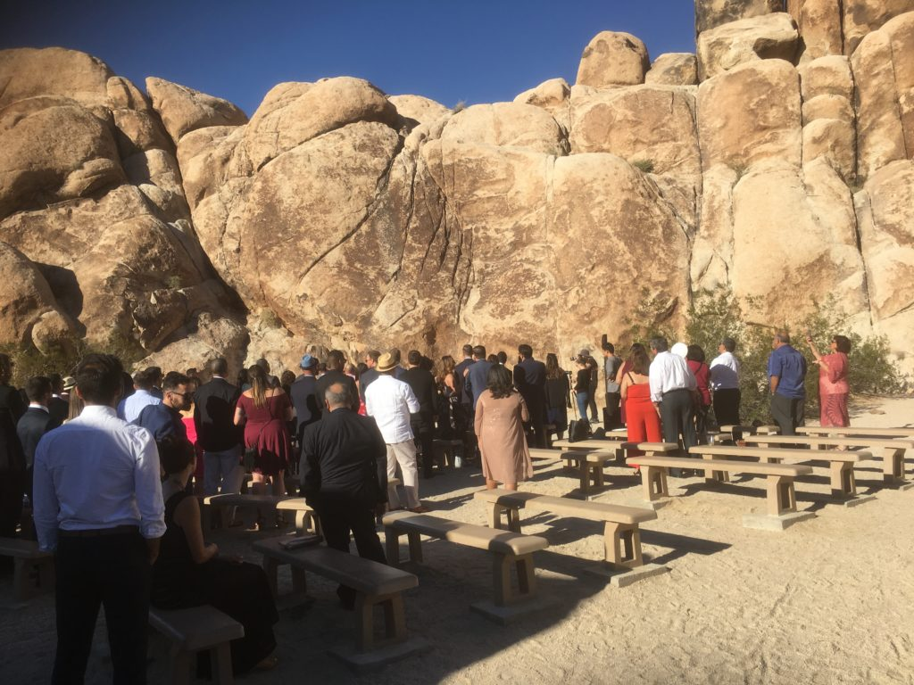 Wedding in the rocks
